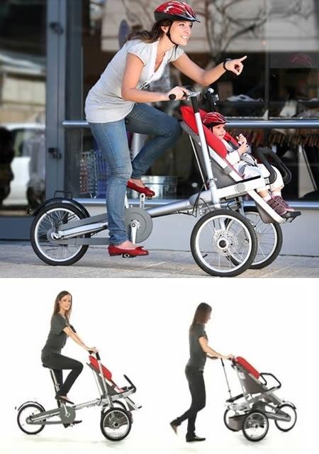 Taga to więcej, niż wózek, i więcej, niż rower. Nie dość, że zapewnia szybki transport osobowy, to nie powoduje problemów z parkowaniem, bo zabierzesz to ze sobą do centrum handlowego czy kawiarni. Jakby tego było mało, producent daje kilkanaście możliwości przekształcenia urządzenia, a jednym z najciekawszych jest… drewniana budka dla dwóch dzieci. Bardzo to fajne naszym zdaniem.